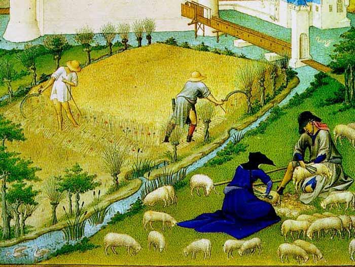 Le tre parabole dal Vangelo di Matteo, rès Riches Heures del duca di Berry (Museo Condé, Chantilly)  dans immagini sacre duberry