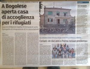 Gazzetta di Parma - La Casa di Mamre a Bogolese